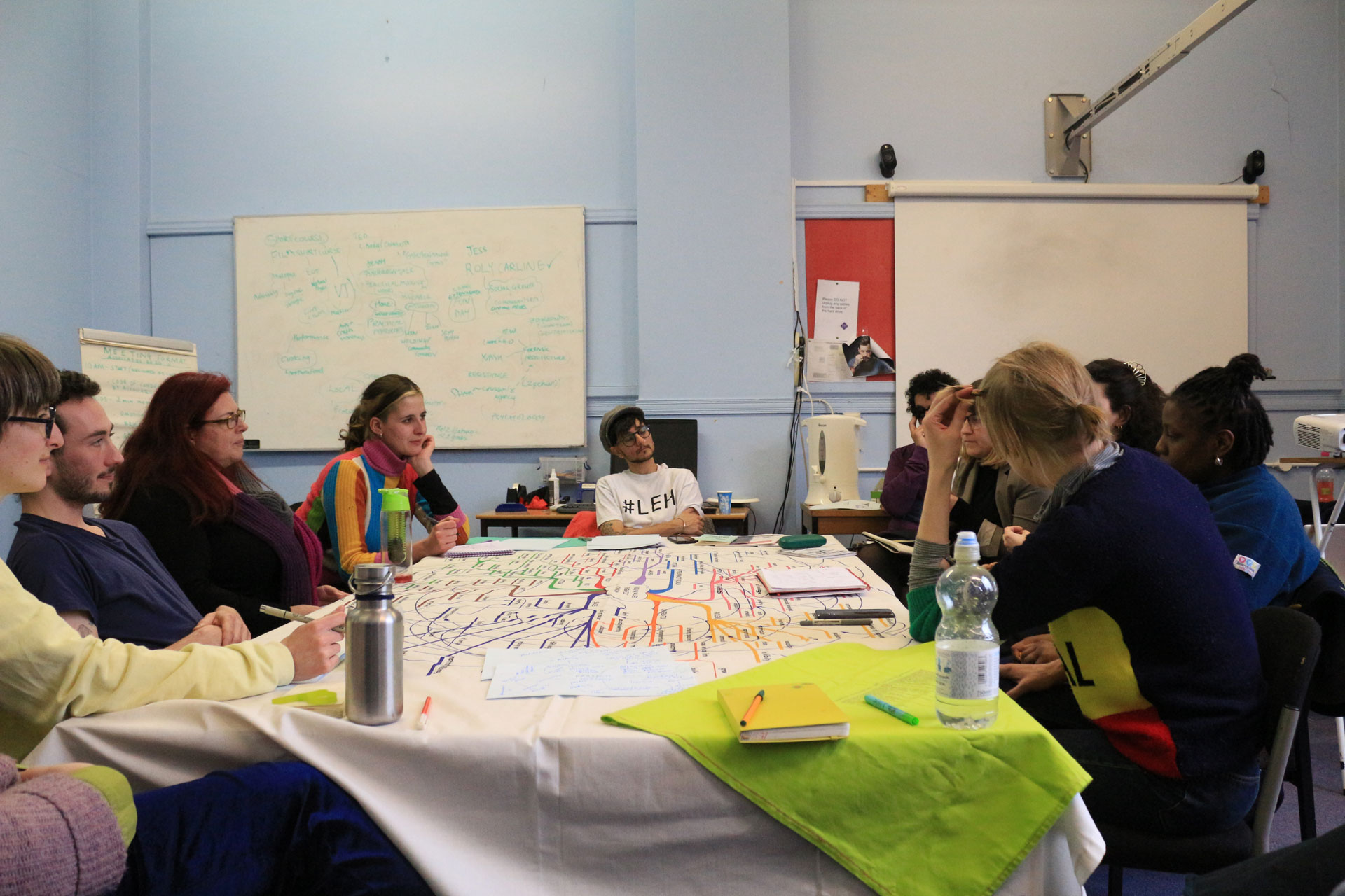 Undervalued energetic economy workshop with Raju Rage, Open School East, Margate, February 2020. Photo courtesy of Open School East