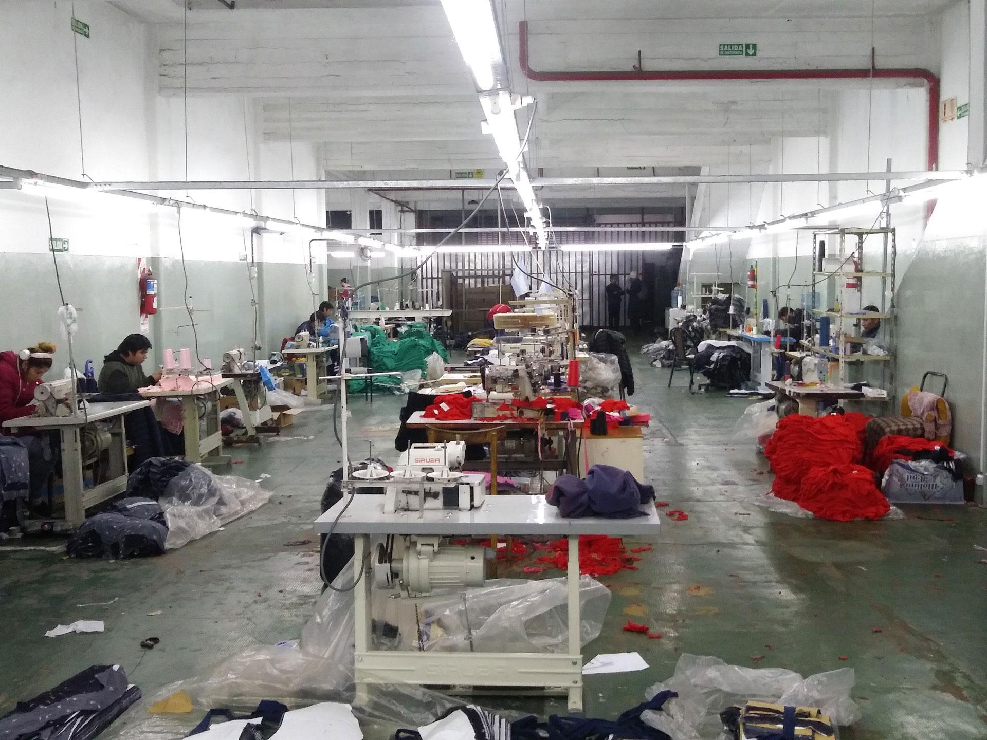 Textile workshop interior